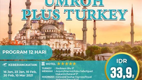 Paket Umroh Plus Turki 2021 Penuh Sensasi