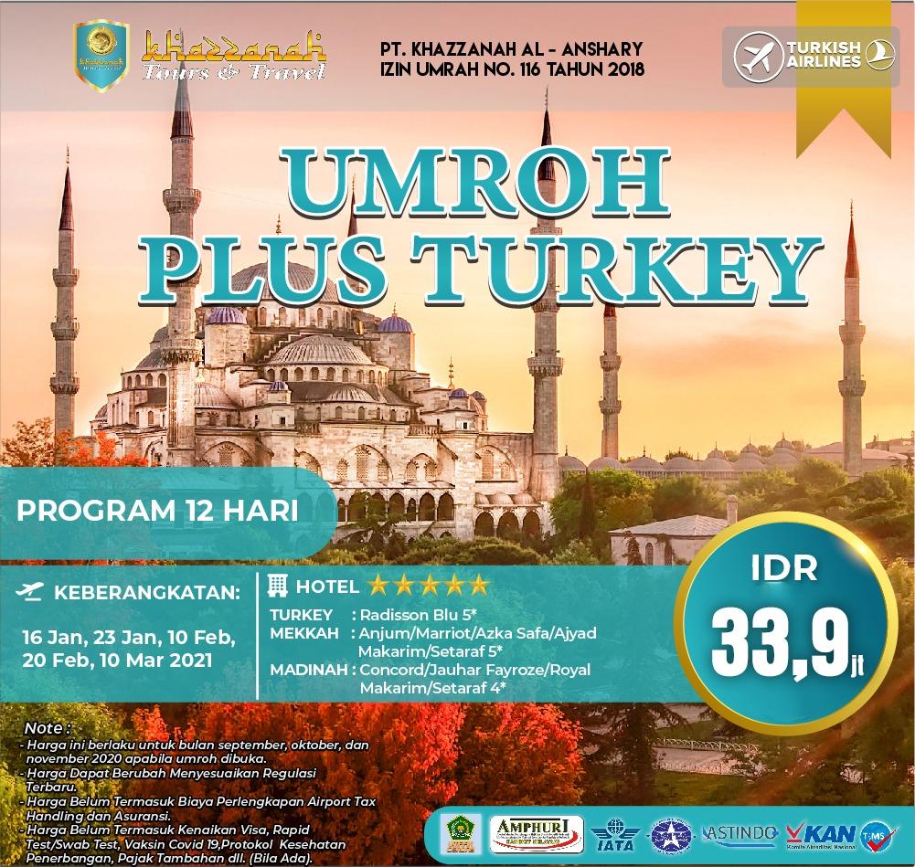 Paket Umroh Plus Turki 2021